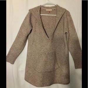 Old Navy size XL hooded sweater tan/brown tweed